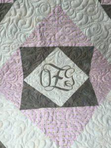 Monogrammed Baby Quilt