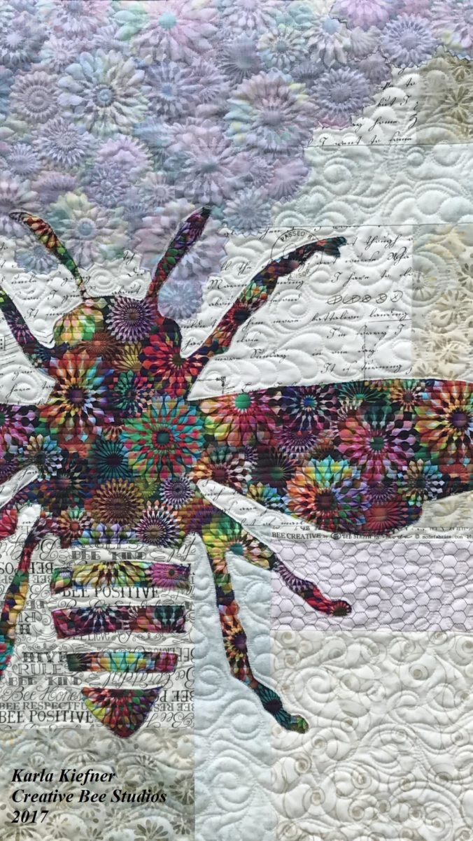 Image of Quilt with Bee