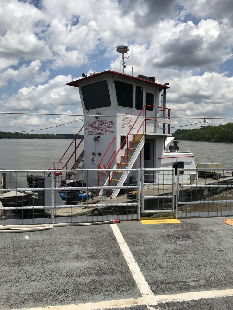 Image of Ferry Piloting across River