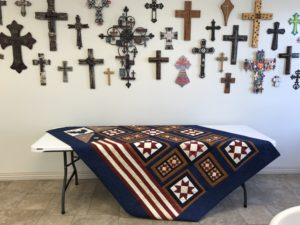 Image of Patriotic Quilt and Crosses