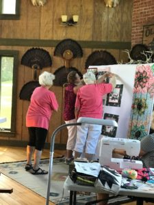 Image of Quilters at the Design Wall.