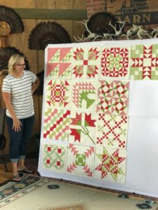 Image of Beth's Quilt on Design Wall