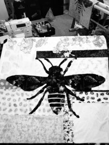 Image of Black and White Quilt Photo
