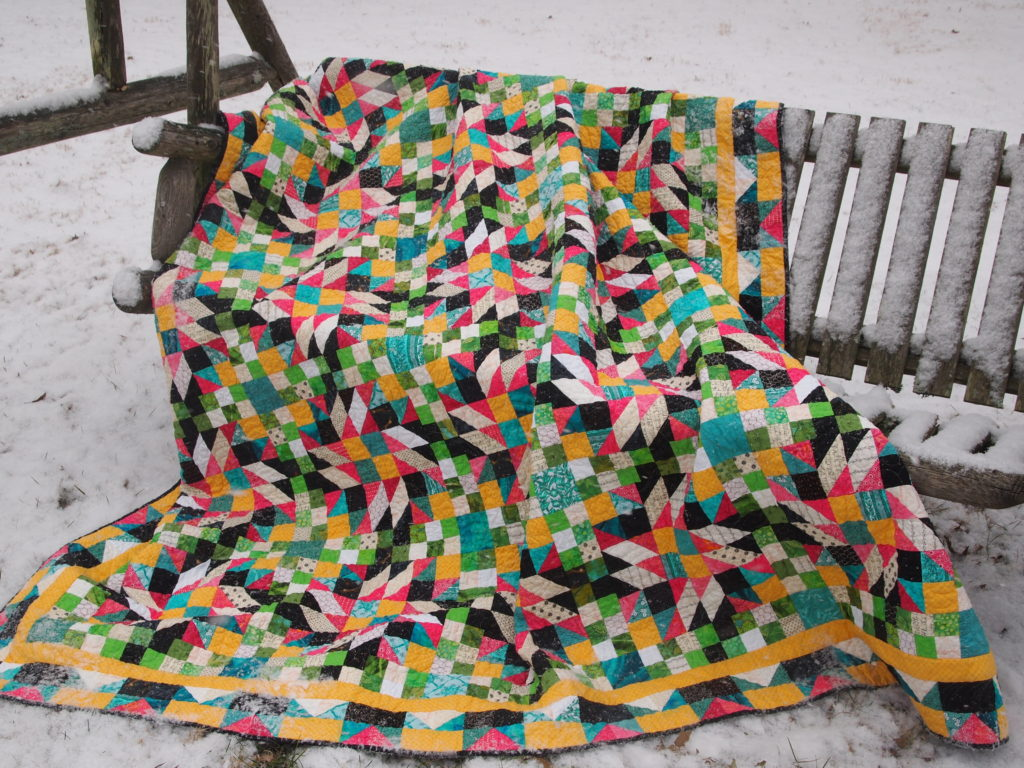 Image of Quilt on Swing
