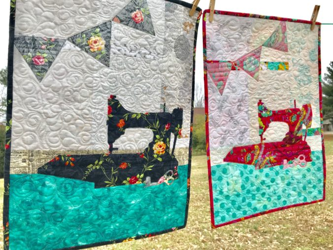 Image of Two Sewing Machine Quilts