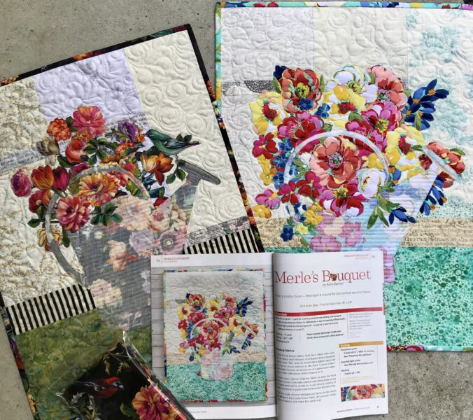 Image of Quilt and Magazine